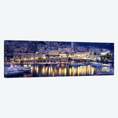Harbor Monte Carlo Monaco Canvas Print #PIM3775} by Panoramic Images Canvas Print