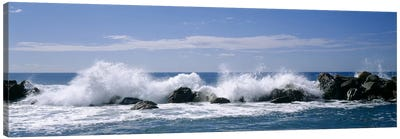 Crashing Waves, Chiavari, Liguria Region, Italy Canvas Print #PIM3777