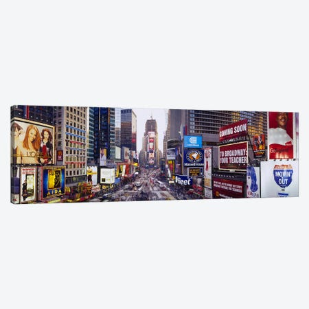 Times Square, Midtown Manhattan, New York City, New York, USA Canvas Print #PIM3778} by Panoramic Images Canvas Art