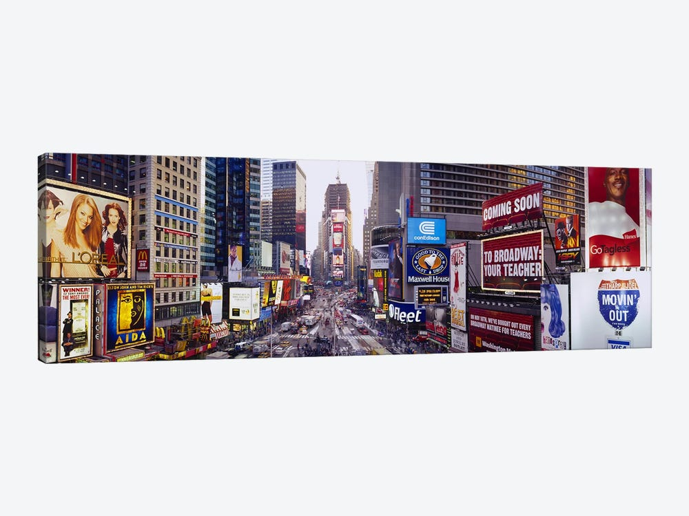 Times Square, Midtown Manhattan, New York City, New York, USA by Panoramic Images 1-piece Canvas Art