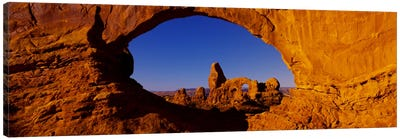 Natural arch on a landscape, Arches National Park, Utah, USA Canvas Art Print
