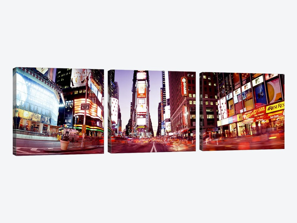Times SquareNYC, New York City, New York State, USA by Panoramic Images 3-piece Canvas Artwork
