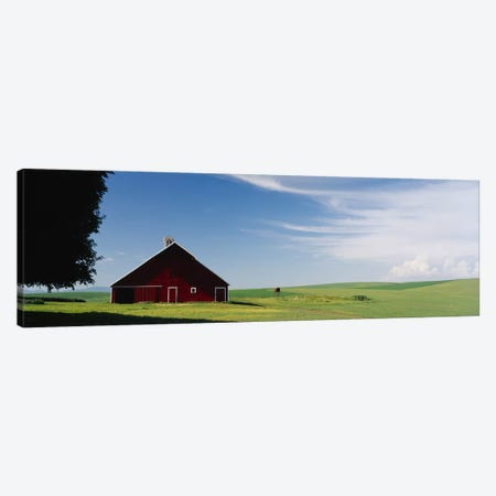 Barn in a wheat fieldWashington State, USA Canvas Print #PIM3784} by Panoramic Images Canvas Wall Art