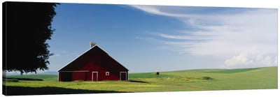 Barn in a wheat fieldWashington State, USA Canvas Art Print