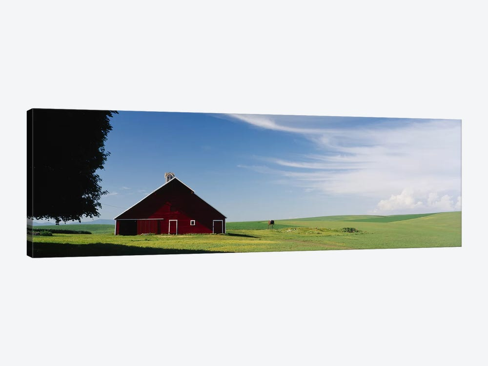 Barn in a wheat fieldWashington State, USA by Panoramic Images 1-piece Art Print
