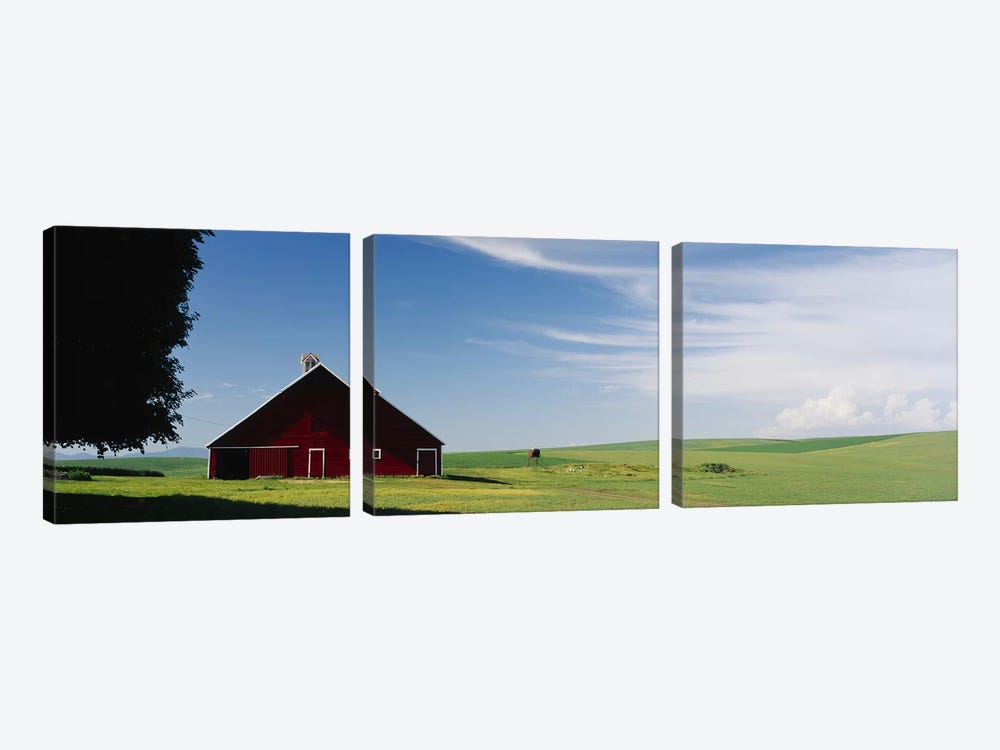 Barn in a wheat fieldWashington State, USA by Panoramic Images 3-piece Art Print