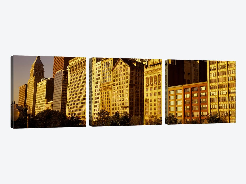 Michigan Avenue ArchitectureChicago, Illinois, USA by Panoramic Images 3-piece Canvas Print