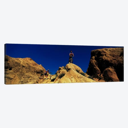 Mountain Bikers CA USA Canvas Print #PIM378} by Panoramic Images Canvas Art