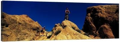 Mountain Bikers CA USA Canvas Art Print