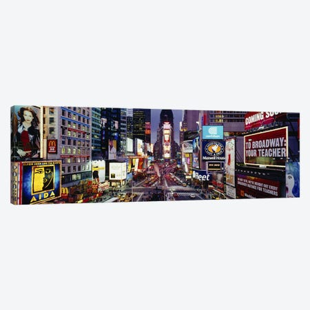 High angle view of traffic on a roadTimes Square, Manhattan, New York City, New York State, USA Canvas Print #PIM3790} by Panoramic Images Canvas Art