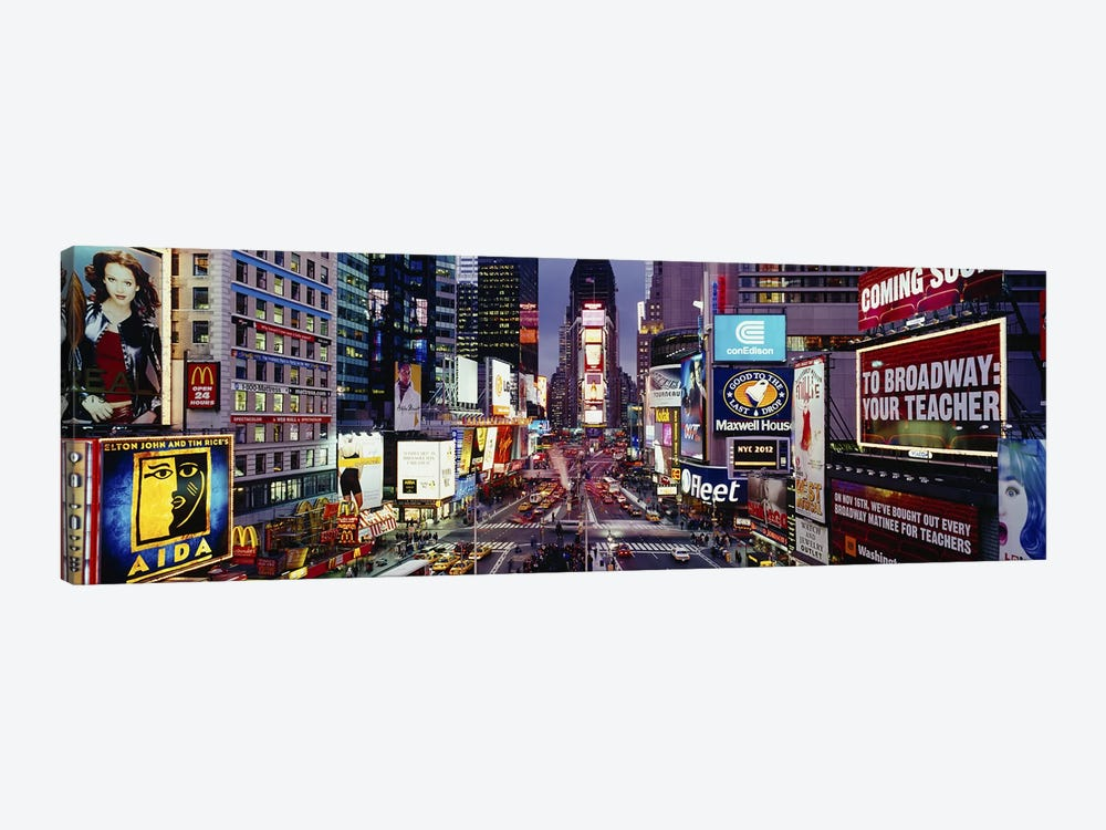 High angle view of traffic on a roadTimes Square, Manhattan, New York City, New York State, USA by Panoramic Images 1-piece Canvas Artwork