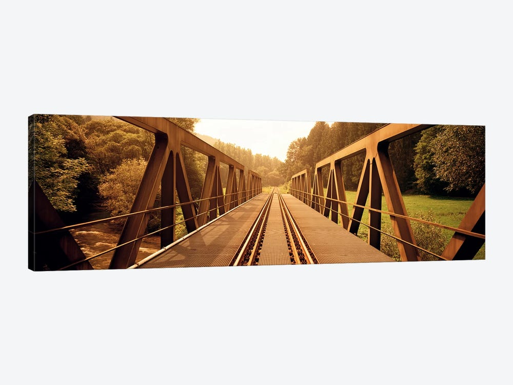 Railroad Tracks & Bridge Germany by Panoramic Images 1-piece Art Print