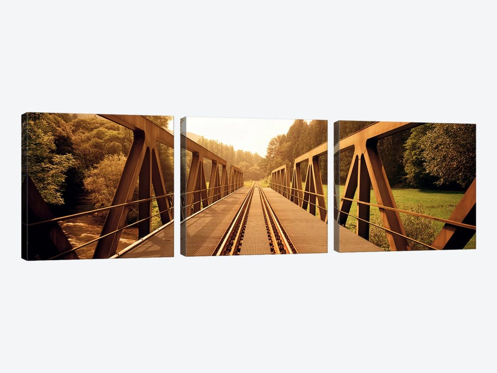 Railroad Tracks & Bridge Germany by Panoramic Images 3-piece Canvas Print