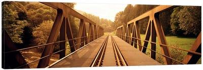 Railroad Tracks & Bridge Germany Canvas Art Print