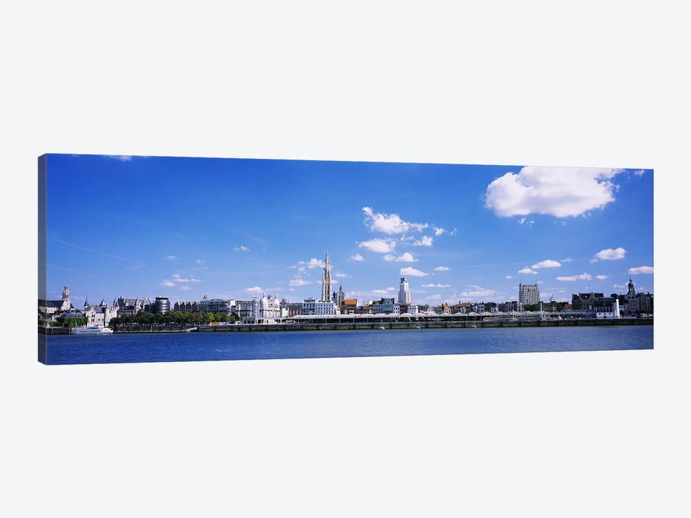 Waterfront Skyline, Antwerp, Flemish Region, Belgium by Panoramic Images 1-piece Canvas Art Print