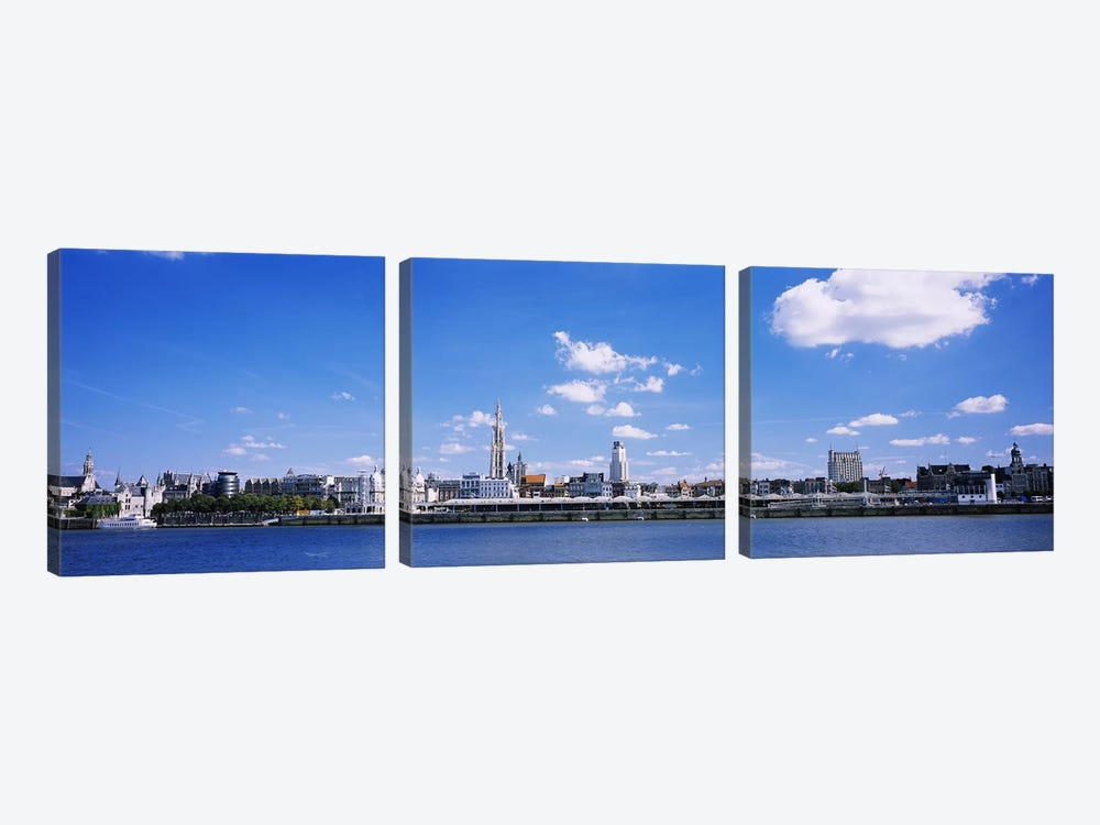 Waterfront Skyline, Antwerp, Flemish Region, Belgium by Panoramic Images 3-piece Art Print
