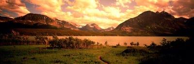 Golden Sunset At Saint Mary Lake Glacier National Park