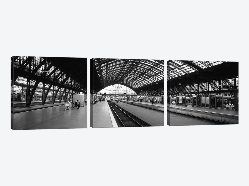 Train Station, Cologne, North Rhine-Westphalia, Germany by Panoramic Images 3-piece Canvas Art Print