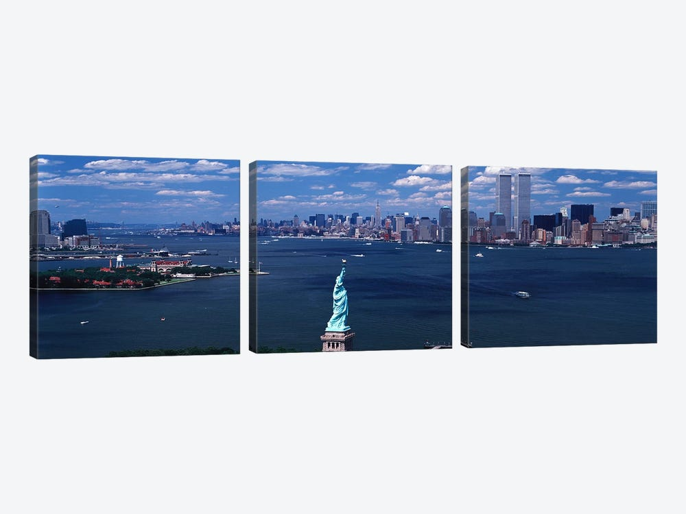 USA, New York, Statue of Liberty by Panoramic Images 3-piece Art Print