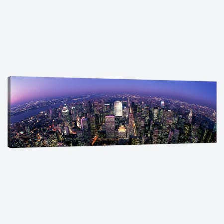 Aerial View, Manhattan, New York City, New York, USA Canvas Print #PIM3812} by Panoramic Images Canvas Art Print