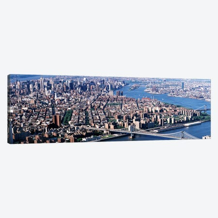 USA, New York, Brooklyn Bridge, aerial Canvas Print #PIM3814} by Panoramic Images Canvas Artwork