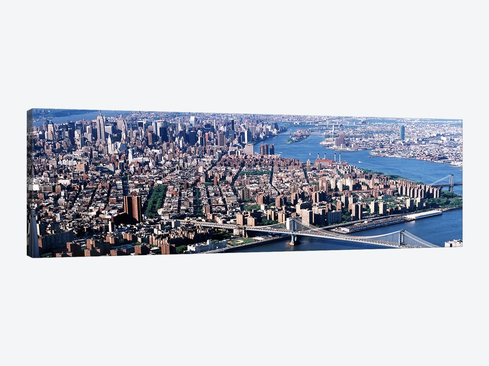USA, New York, Brooklyn Bridge, aerial by Panoramic Images 1-piece Canvas Artwork