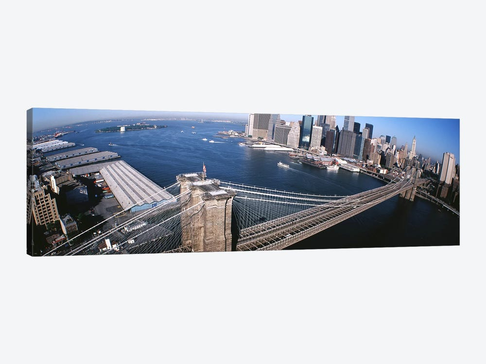 USA, New York, Brooklyn Bridge, aerial #2 by Panoramic Images 1-piece Canvas Print