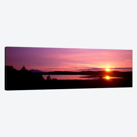 Germany , Forggen Lake, sunset Canvas Print #PIM381} by Panoramic Images Art Print