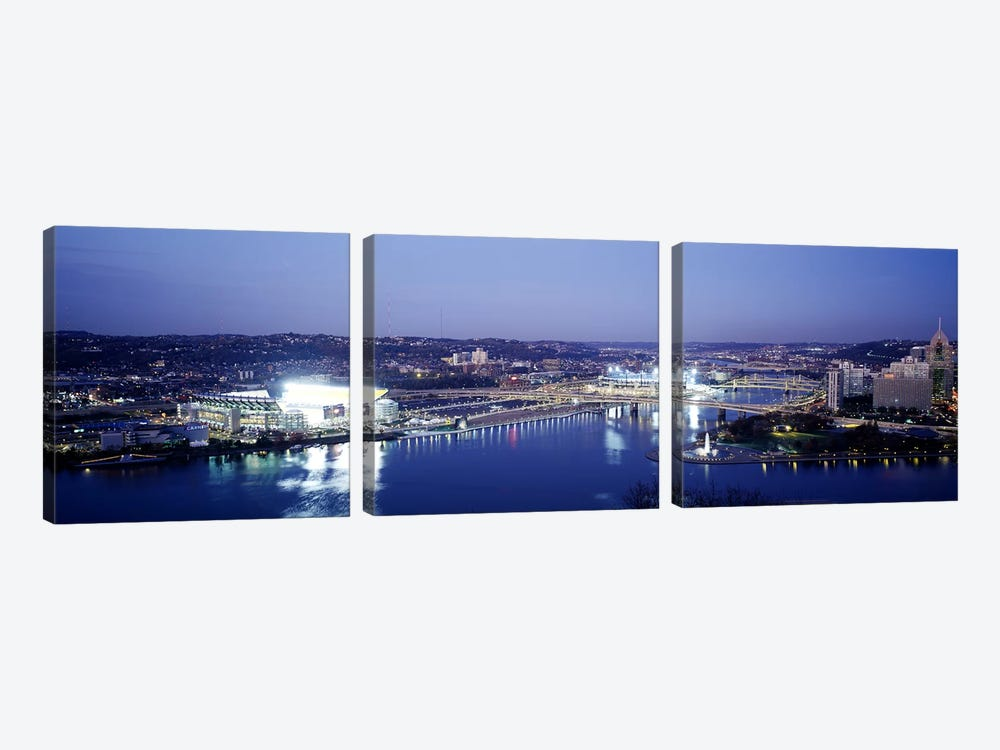 Pittsburgh PA #3 by Panoramic Images 3-piece Canvas Art Print