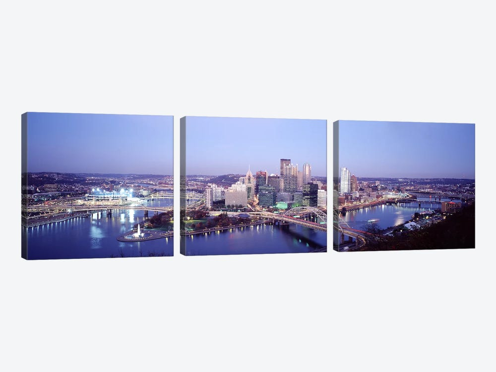 Pittsburgh PA by Panoramic Images 3-piece Canvas Art