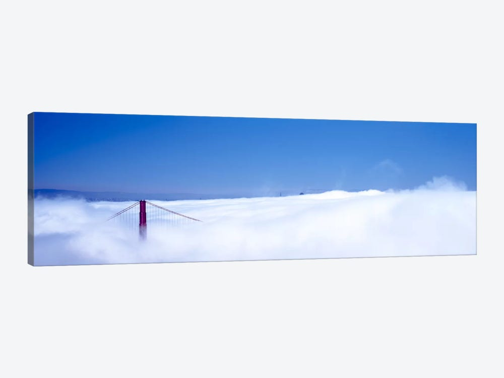 San Francisco Golden Gate Bridge California in smog by Panoramic Images 1-piece Canvas Art
