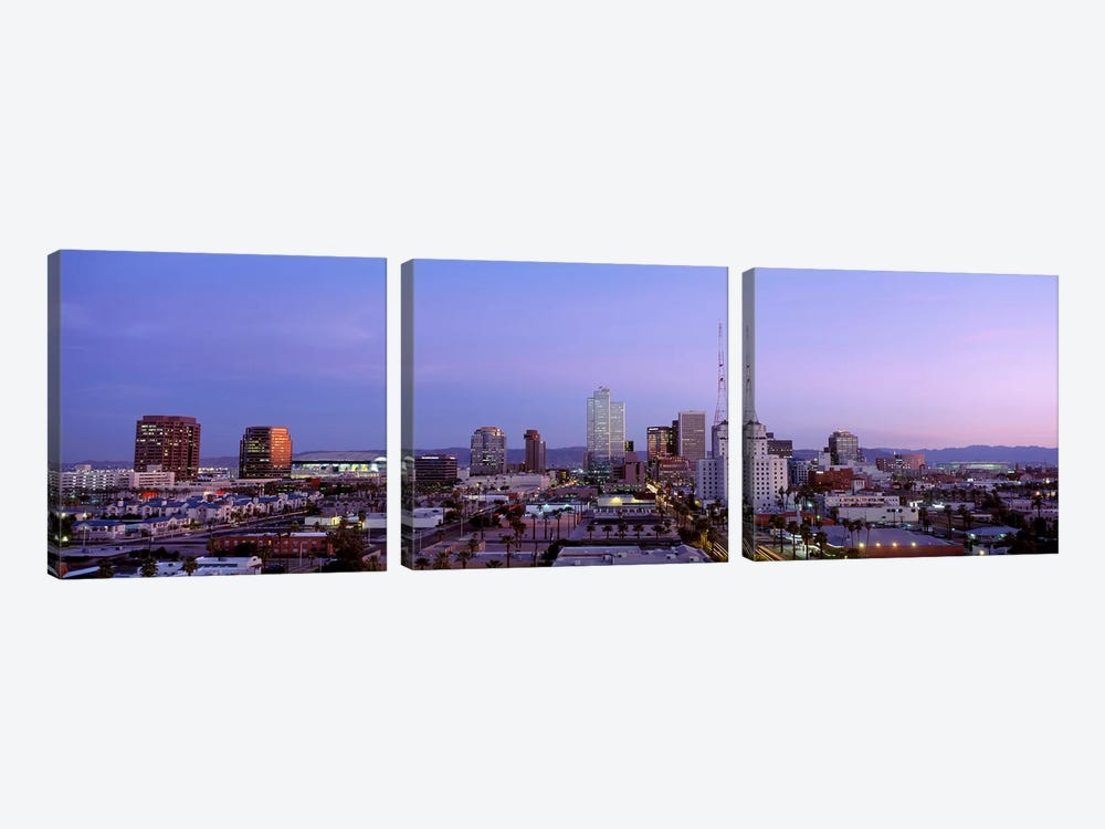 Downtown Skyline At Dusk, Phoenix, Arizona, Maricopa County, USA by Panoramic Images 3-piece Art Print