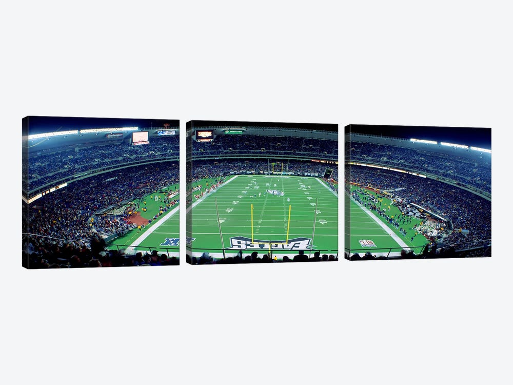 Philadelphia Eagles NFL Football Veterans Stadium Philadelphia PA by Panoramic Images 3-piece Art Print
