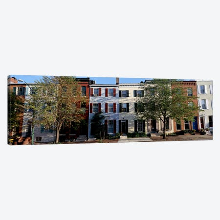 Row homes, Philadelphia Canvas Print #PIM3835} by Panoramic Images Canvas Wall Art