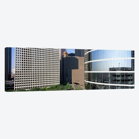 Skyscraper windows in Houston, TX Canvas Print #PIM3836} by Panoramic Images Canvas Artwork