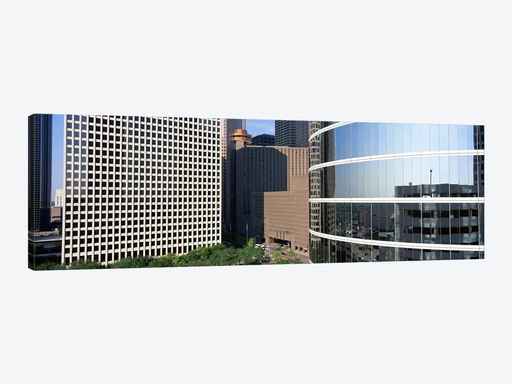 Skyscraper windows in Houston, TX 1-piece Canvas Wall Art