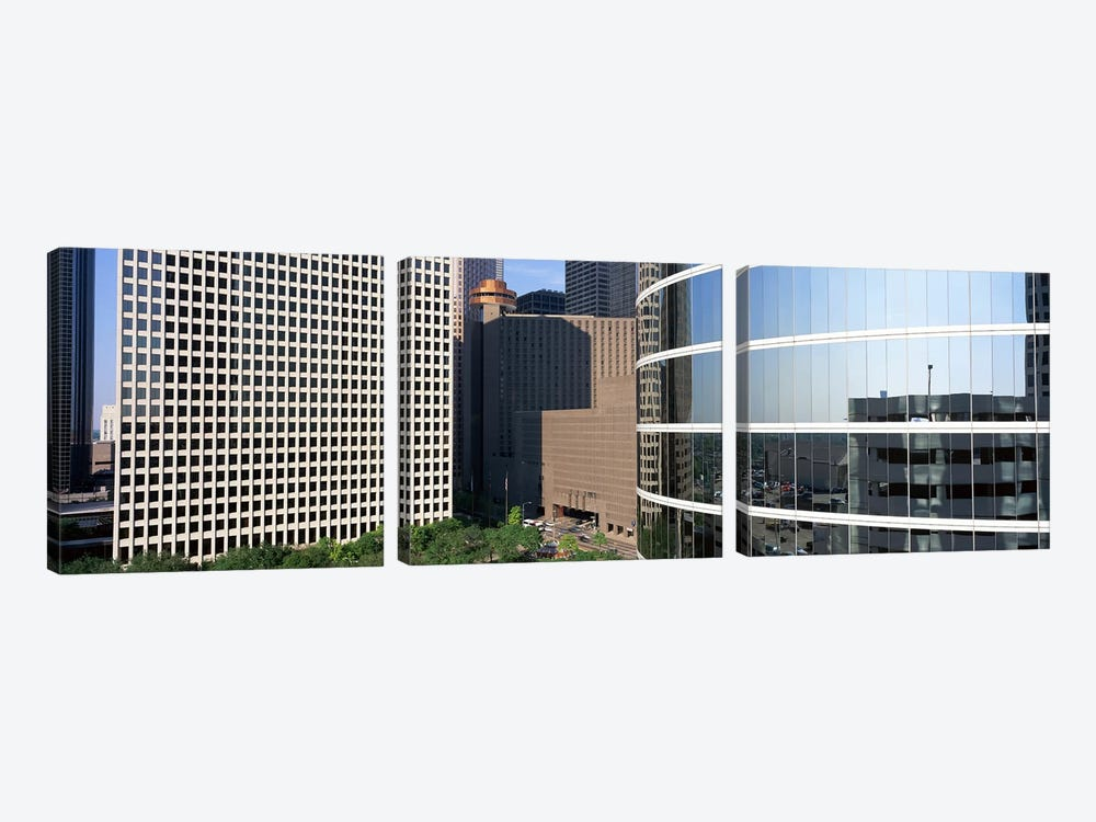 Skyscraper windows in Houston, TX by Panoramic Images 3-piece Canvas Art
