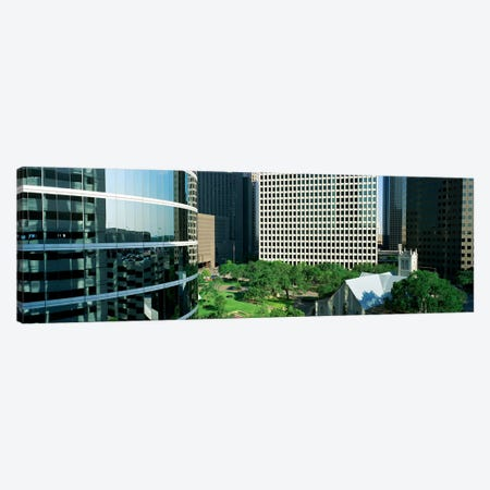 Detail Of Glass Building Canvas Print #PIM3837} by Panoramic Images Canvas Art