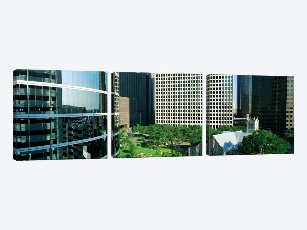 Detail Of Glass Building by Panoramic Images 3-piece Art Print