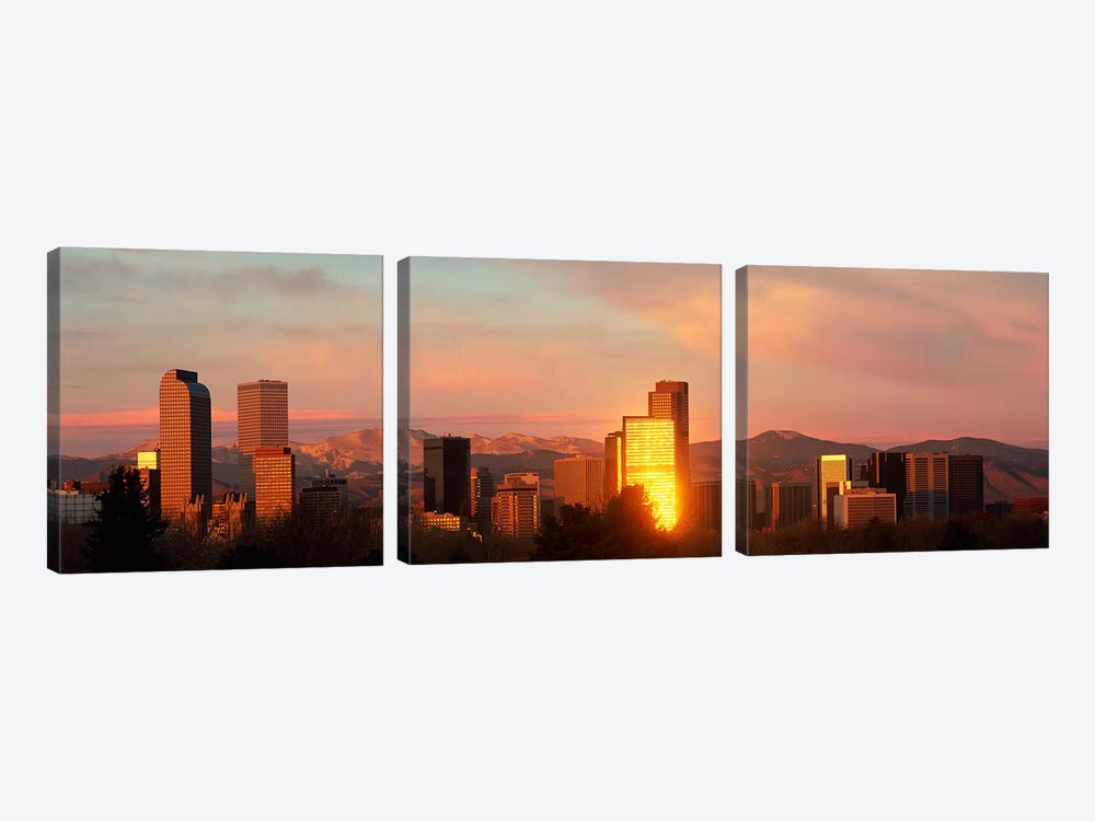 Denver skyline by Panoramic Images 3-piece Canvas Art