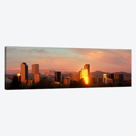 Denver skyline Canvas Print #PIM3838} by Panoramic Images Canvas Art Print