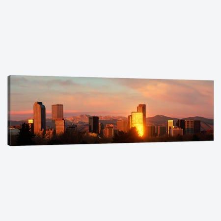 Denver skyline Canvas Print #PIM3838} by Panoramic Images Canvas Art Print