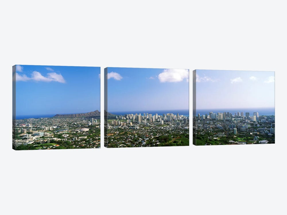 Honolulu, Hawaii 3-piece Canvas Print