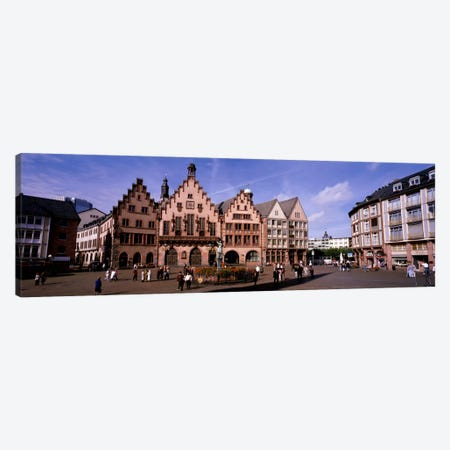 Eastern Façade Of The Römer, Römerberg, Altstadt, Frankfurt, Hesse, Germany Canvas Print #PIM383} by Panoramic Images Art Print