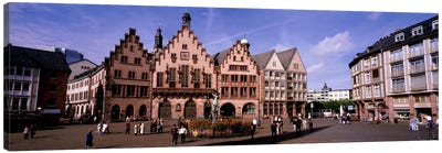Eastern Façade Of The Römer, Römerberg, Altstadt, Frankfurt, Hesse, Germany Canvas Art Print