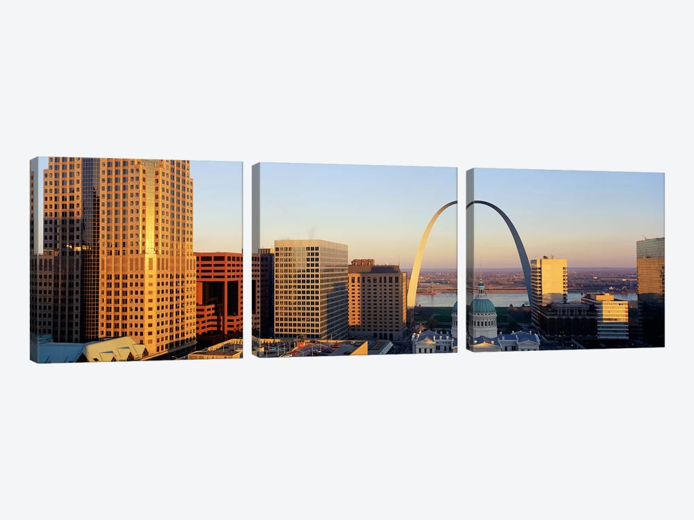 St. Louis Skyline by Panoramic Images 3-piece Art Print