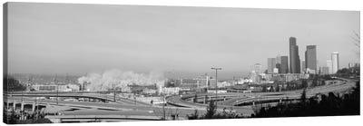 Building demolition near a highway, Seattle, Washington State, USA Canvas Print #PIM3841