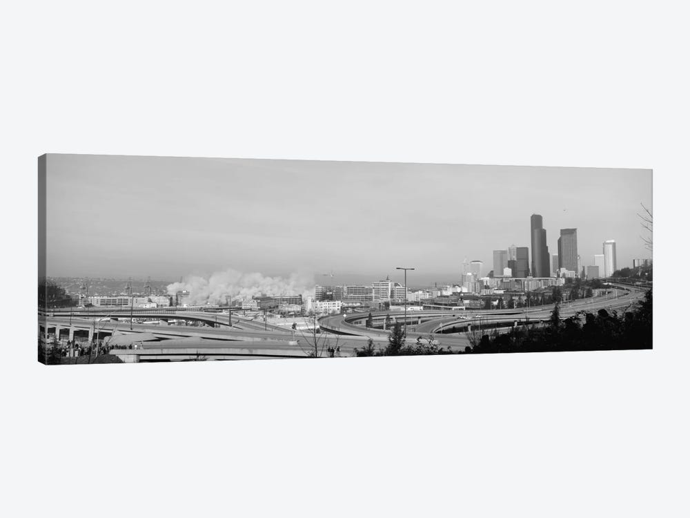 Building demolition near a highway, Seattle, Washington State, USA by Panoramic Images 1-piece Canvas Artwork