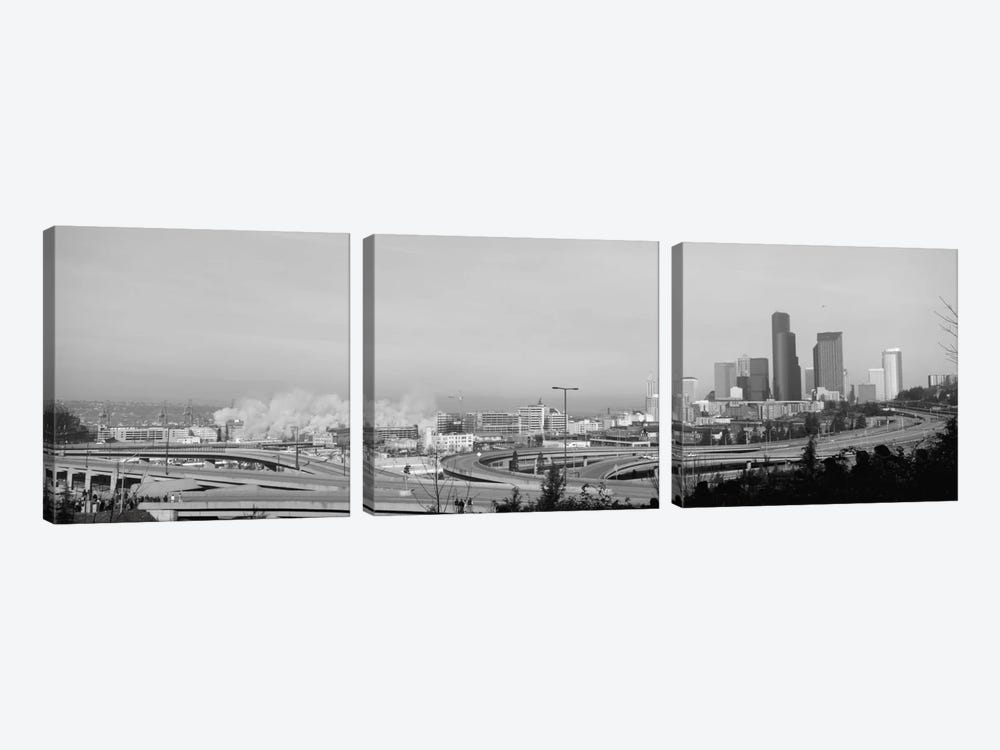Building demolition near a highway, Seattle, Washington State, USA by Panoramic Images 3-piece Canvas Wall Art