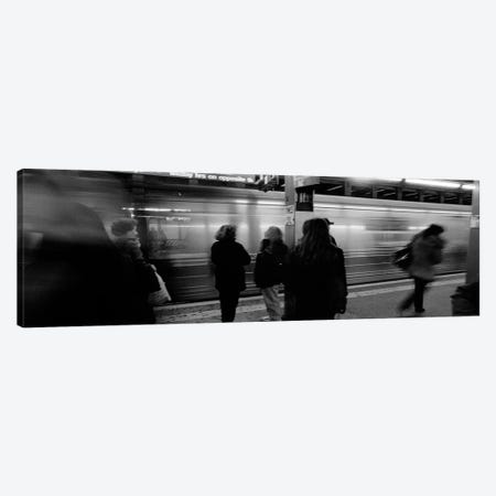 Blurred Motion View, Times Square Subway Station, New York City, New York, USA Canvas Print #PIM3849} by Panoramic Images Canvas Art